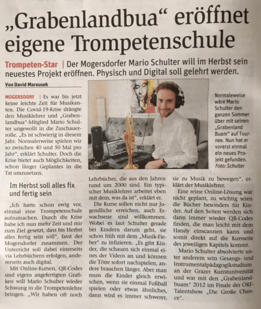 1. Zeitungsbericht - BVZ - Trumpetstar
